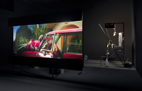 "Installation view, ""Hammer Projects"", Neil Beloufa, Hammer Museum, Los Angeles, California."